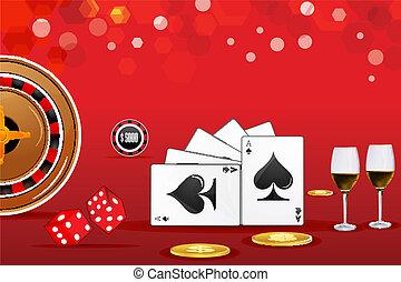 casino, kaart
