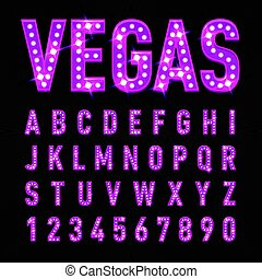 Casino Letters - Retro Volumetric Signboard Letters with...