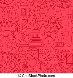 Casino Line Seamless Pattern