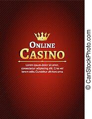 Casino logo template poster. Online Casino background design