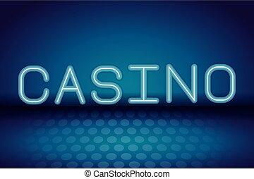Casino neon advertising