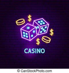 Casino Neon Label