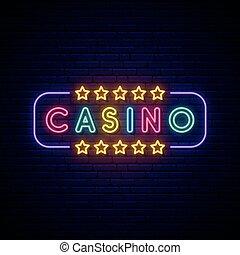Casino neon sign.