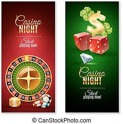 Casino Night 2 Vertical Banners Set