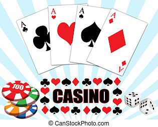 casino, ontwerp, achtergrond