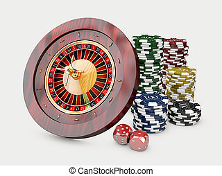 casino, opperen, frites, dice., 3d, achtergrond, roulette,...