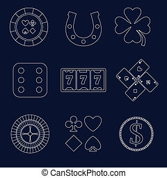 Casino outline design elements