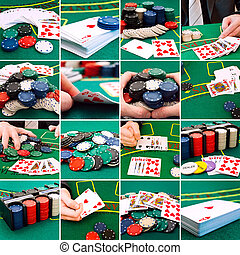 Casino - set of different actions and scenes in casino