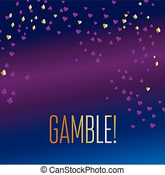 casino play card icons vector background