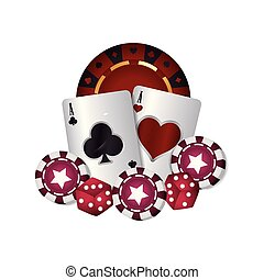 casino poker ace cards dices chips game