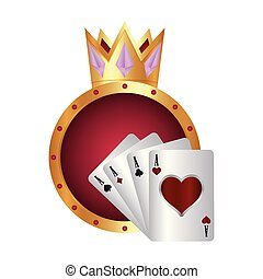 casino poker ace cards golden crown