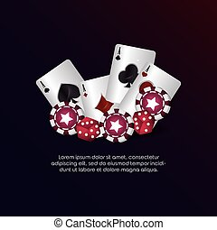 casino poker aces cards dices chips gambling