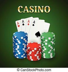 Casino poker background