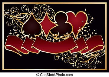 Casino Poker background, vector