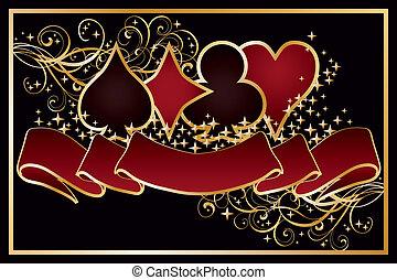 Casino Poker background, vector