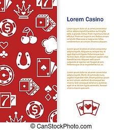 Casino poker banner template design