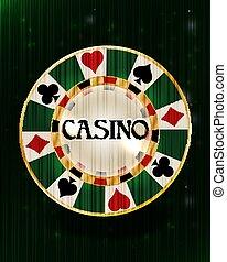 Casino poker chip, vector illustration