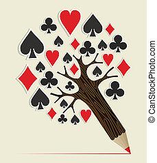 Casino Poker concept tree