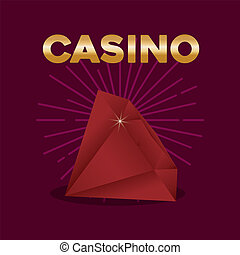 casino poker diamond award game symbol