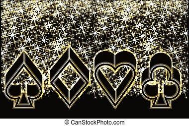 Casino Poker elements, vector illustration