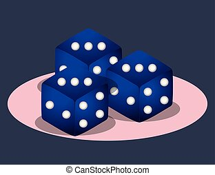 casino poker game bets dices symbol