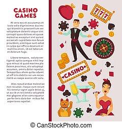 Casino poker game vector poster - Casino poker game poster...
