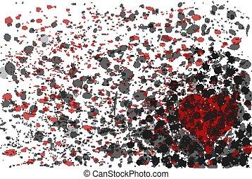 Casino poker heart background, vector illustration