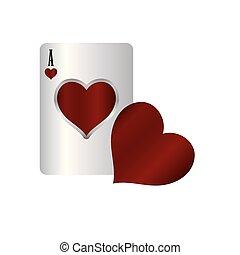 casino poker heart card game gambling