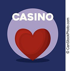casino poker heart suit card symbol