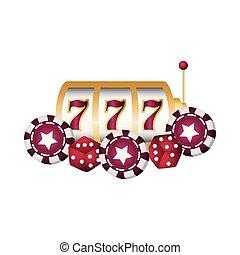 casino poker jackpot machine chips dices