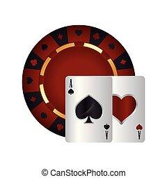 casino poker roulette cards ace spade heart