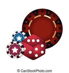 casino poker roulette dice and chips