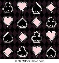 Casino poker seamless pattern, vector illustration