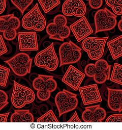 Casino poker seamless pattern, vector illustration