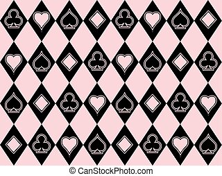 Casino poker seamless wallpaper, vector illustration