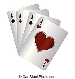 casino poker suits card aces