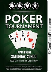 Casino Poker Tournament green background poster