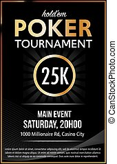 Casino Poker Tournament poster design