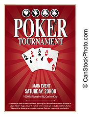 Casino Poker Tournament poster template