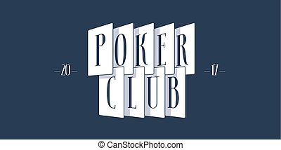 Casino, poker vector logo, emblem