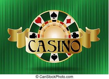 Casino poker vip chip, vector illustration