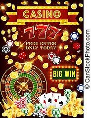 casino, pook, jackpot, geluksspelletjes, spelen