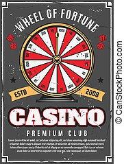 casino, pook, spel, wiel van fortuin, geluksspelletjes