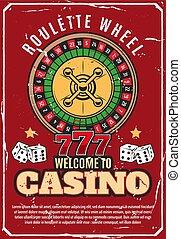 casino, pook, wiel, roulette, geluksspelletjes, spel