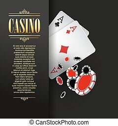 Casino poster or banner background or flyer template. Casino...