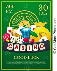 Casino poster vector illustration
