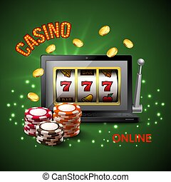 Casino Realistic Composition