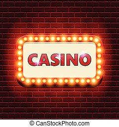 Casino retro banner template