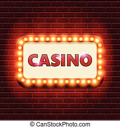 Casino retro banner template