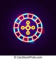 Casino Roulette Neon Sign
